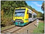Ostdeutsche Eisenbahn GmbH/19940/vt-65058-der-ostdeutschen-eisenbahn-am VT 650.58 der Ostdeutschen Eisenbahn am 20.10.2007 in Ahrensfelde Nord