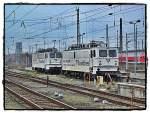 Scandlines/23555/br-109-1-und-109-2-von-scandlines BR 109-1 und 109-2 von Scandlines in Berlin-Lichtenberg abgestellt